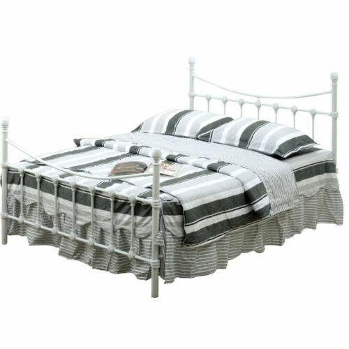 NIEVES Fém ágy lécezett ráccsal - fém (fehér) (140x200) [NEW]