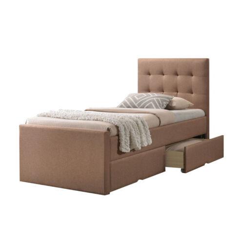 VISKA Modern ágy - világosbarna (90x200)
