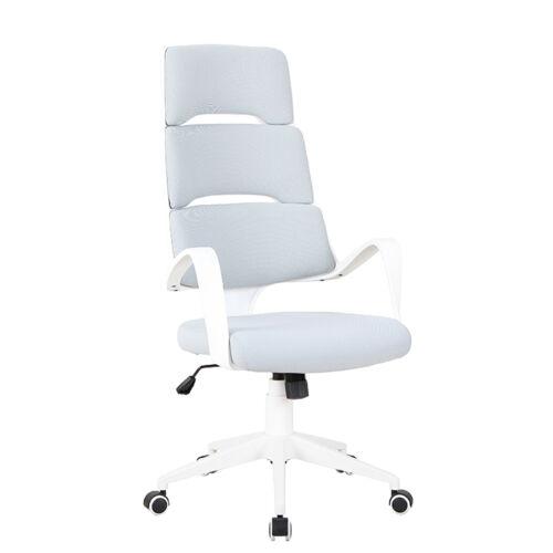 VISAR Irodai szék,  világosszürke/fehér