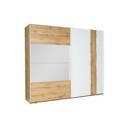 VODENA 2-ajtós szekrény,  tölgy wotan/fehér [200]
