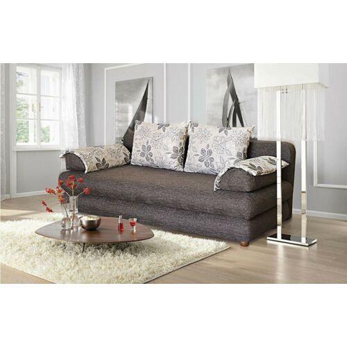 Kinga szövet kanapé barna bézs párnával.