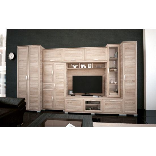 ANDORRA szekrénysor - sonoma tölgy, 370 cm