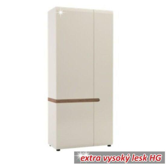 LYNATET Akasztós szekrény,  fehér - extra magas fényű HG/trufla sonoma tölgyfa [20 TÍPUS]
