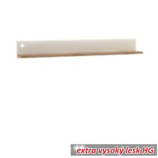 LYNATET Polc,  fehér - extra magas fényű HG/trufla sonoma tölgyfa [60 TÍPUS]