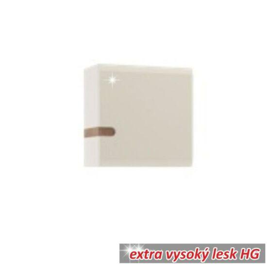 LYNATET Fali szekrény,  fehér extra magas fényű HG/tölgy sonoma sötét trufla [TYP 65]