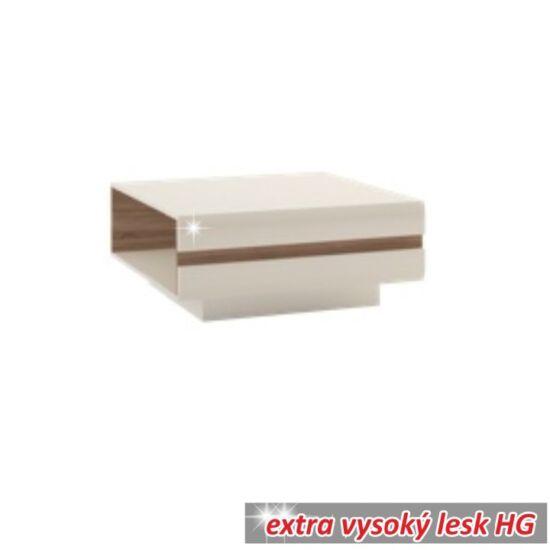 LYNATET Dohányzóasztal,  fehér extra magas fényű HG/tölgy sonoma sötét trufla [TYP 70]