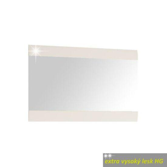 LYNATET Kis tükör,  fehér extra magas fényű HG [TYP 122]