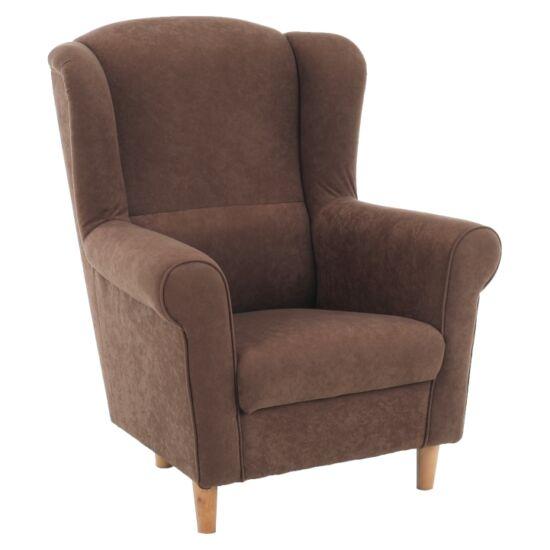 CHARLOT Füles fotel,  barna szövet