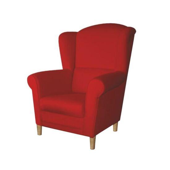 CHARLOT Füles fotel,  piros