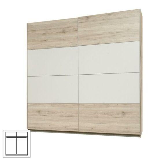 VALERIA Akasztós szekrény tolóajtós,  tölgyfa homok / fehér