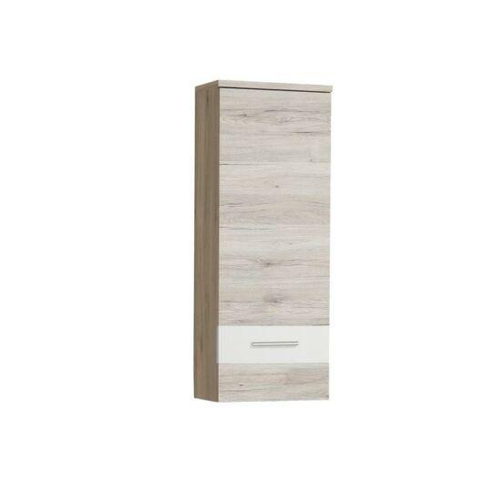 VALERIA Függesztett szekrény,tölgyfa homok / fehér,  Függesztett szekrény,tölgyfa homok / fehér