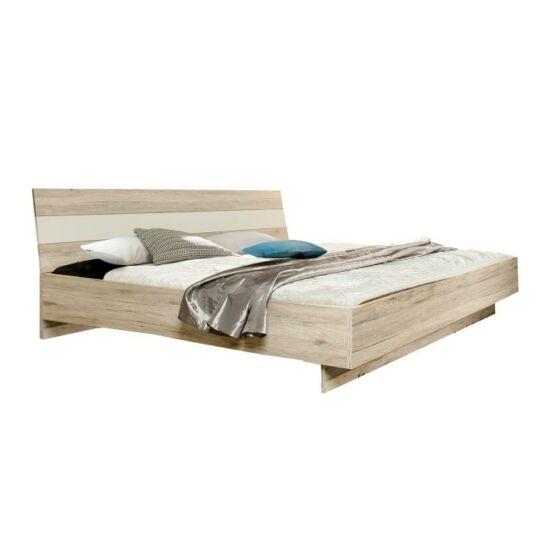 VALERIA Ágy 180x200,  tölgyfa homok / fehér