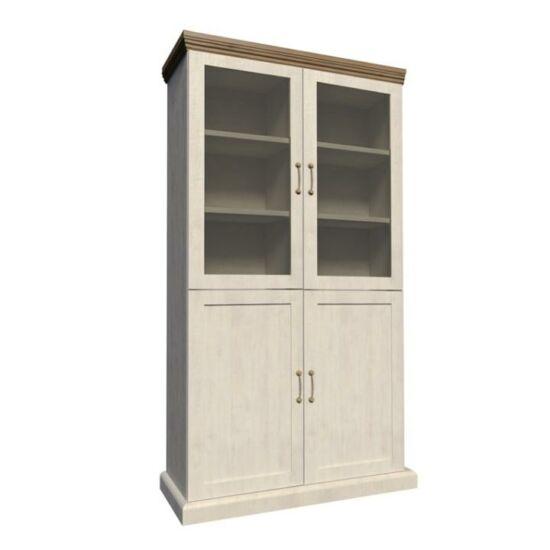 ROYAL Vitrin polcokkal üveg ajtóval,északi erdei fenyő/tölgyfa,  Vitrin polcokkal üveg ajtóval,északi erdei fenyő/tölgyfa [W4D]