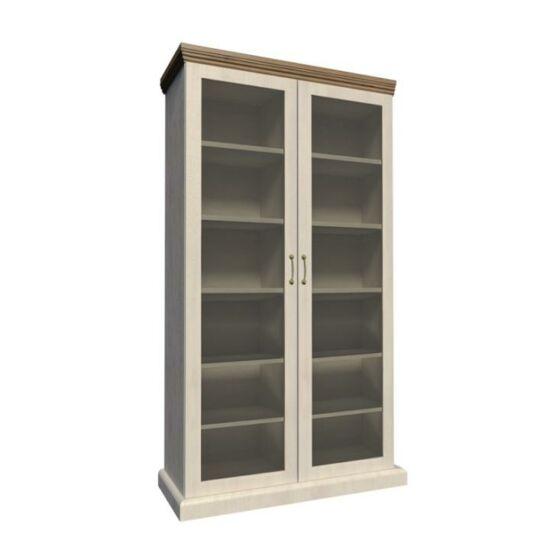 ROYAL Vitrin üveg ajtóval,északi erdei fenyő/tölgyfa,  Vitrin üveg ajtóval,északi erdei fenyő/tölgyfa [WS]