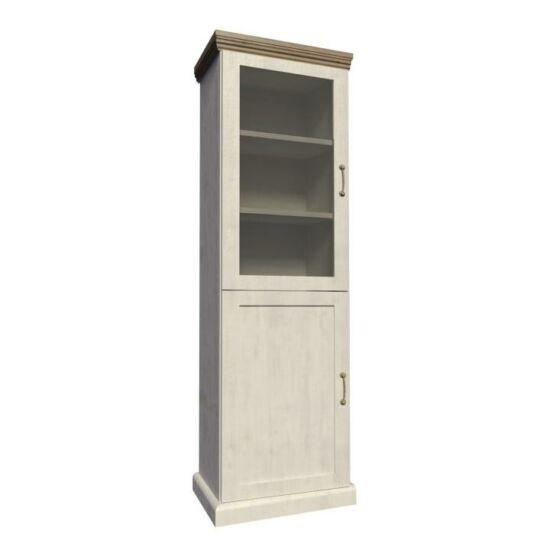 ROYAL Vitrin üveg ajtóval,északi erdei fenyő/tölgyfa,  Vitrin üveg ajtóval,északi erdei fenyő/tölgyfa [W1D]