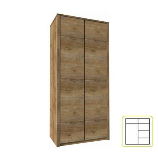 MONTANA Szekrény 2-ajtós,  lefkas tölgyfa [S2D]