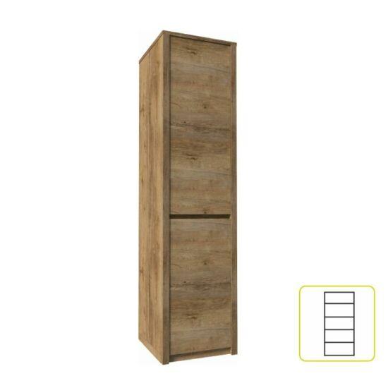 MONTANA Egyajtós osztot szekrény,  tölgyfa lefkas [S1D]
