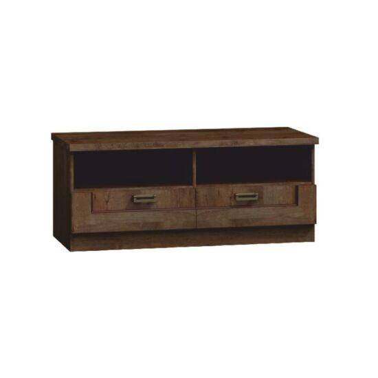 TEDY TV asztal/szekrényke,  tölgyfa lefkas [TYP T11]