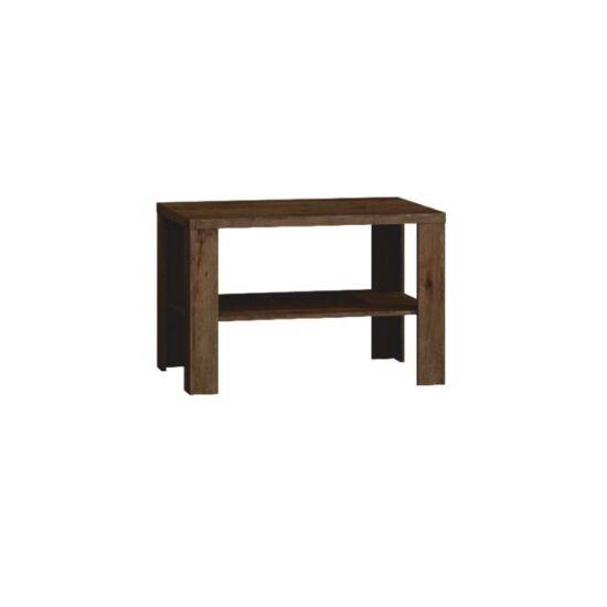 TEDY Dohányzóasztal,  tölgyfa lefkas [T23]