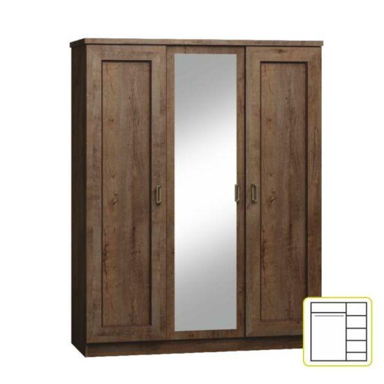 TEDY Akasztós szekrény polcokkal,  tölgyfa lefkas [TYP T15]