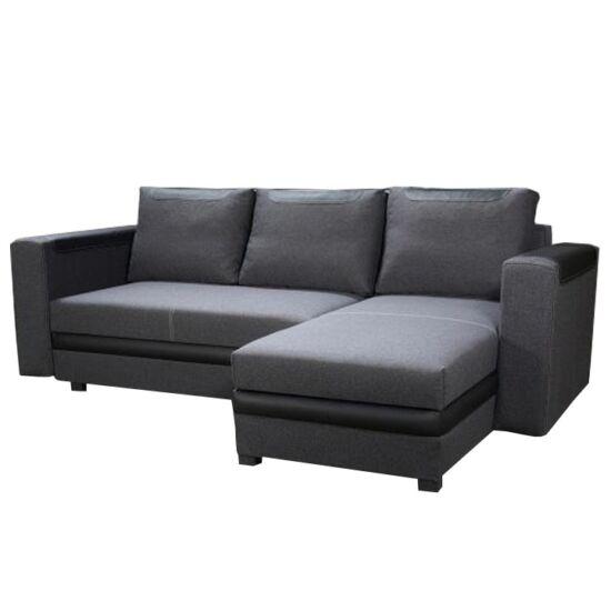 BONA Ülőgarnitúra,  sötétszürke/fekete [NEW]