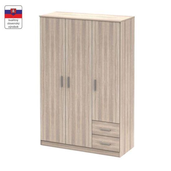 NOKO-SINGA Háromajtós szekrény,  tölgy sonoma [84]