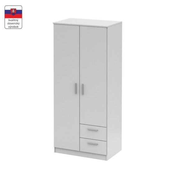 NOKO-SINGA Kétajtós szekrény,  fehér [81]