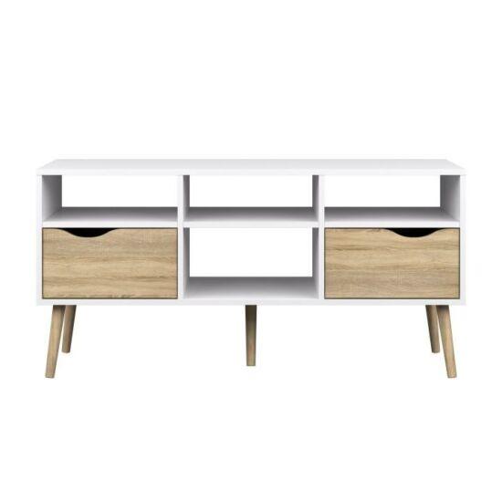 OSLO TV asztal/szekrény,  tölgy sonoma / fehér [75391]