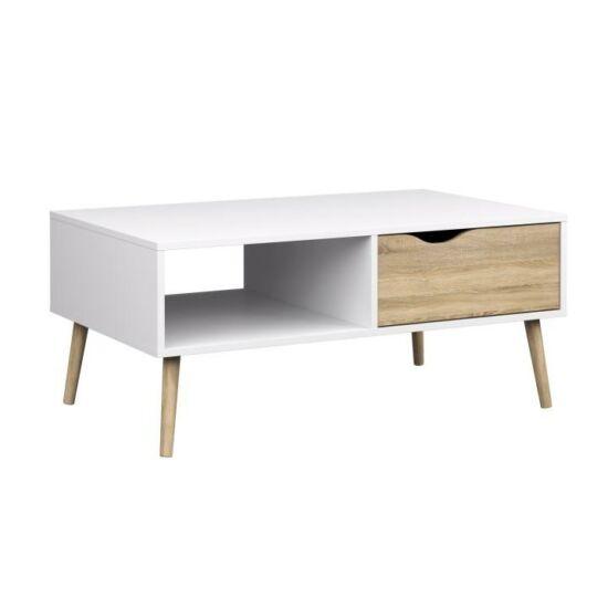 OSLO Dohányzóasztal,  tölgy sonoma / fehér [75384]