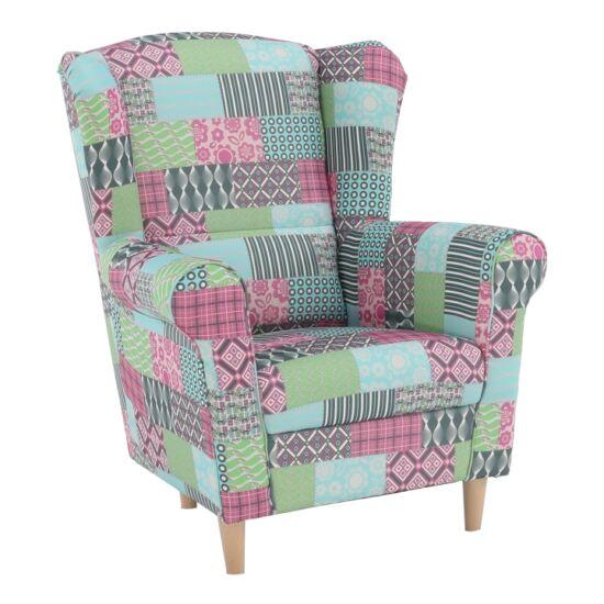CHARLOT Fotel,  patchwork M1