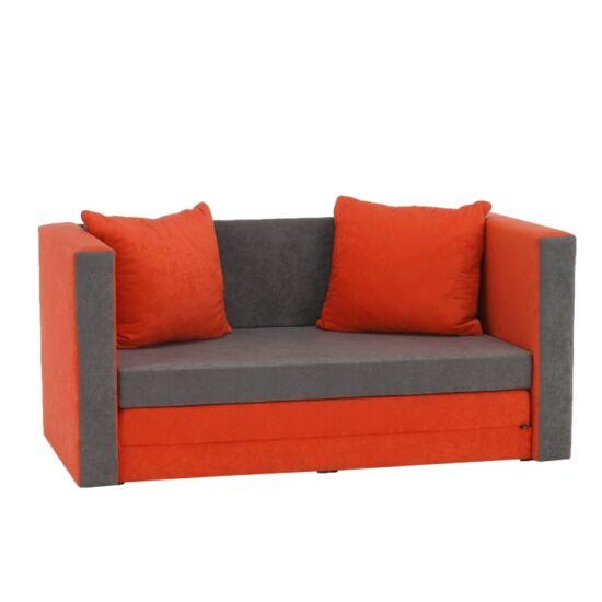 KATARINA Kinyitható kanapé,  narancssárga/szürke [NEW]