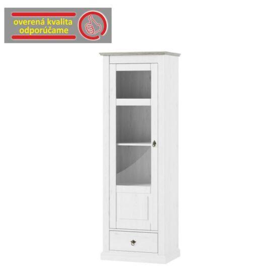 LIONA Vitrines szekrény,  fehér [LM 01]