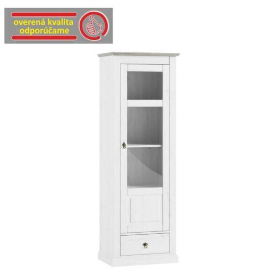 LIONA Vitrines szekrény,  fehér [LM 11]