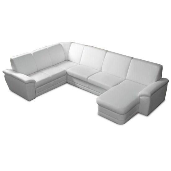 BITER U alakú ülőgarnitúra - műbőr fehér,  jobbos [U]