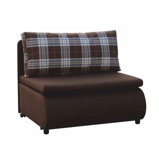KENY Kinyitható fotel,  barna/káró minta [NEW]