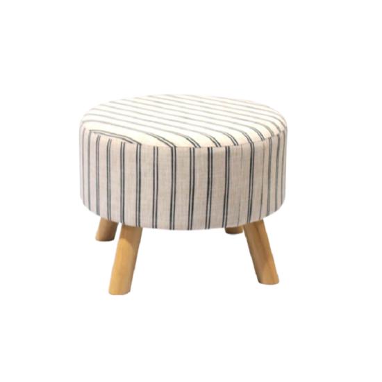 RONDA Ülőke - bézs anyag,  nyomtatott textil/fa