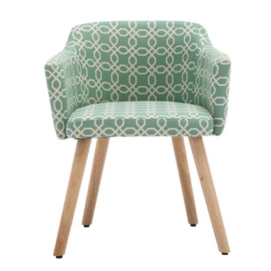 DIPSY Dizájn fotel,  zöld minta