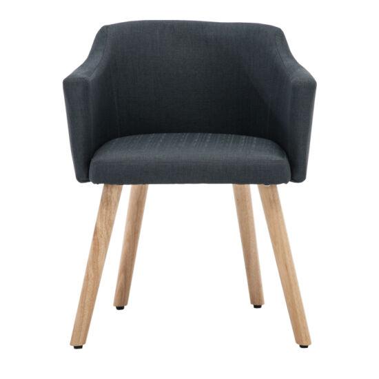 DIPSY Dizájnos fotel,  szürke anyag/fa