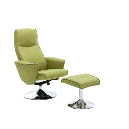 LONATO Fotel zsámollyal,  zöld szín