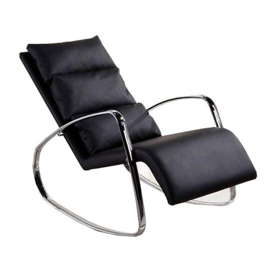 ökobőr Hinta fotel,  Hinta fotel [fekete/króm,DORA]