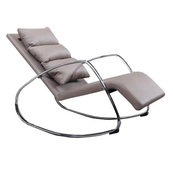 DORA Hinta fotel,  ökobőr capuccino/króm