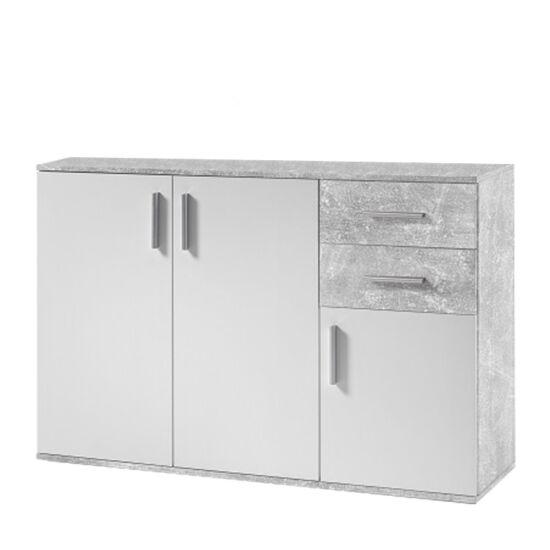 POPPY Komód,  fehér/beton [2]