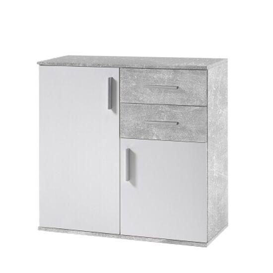 POPPY Komód,  fehér/beton [4]