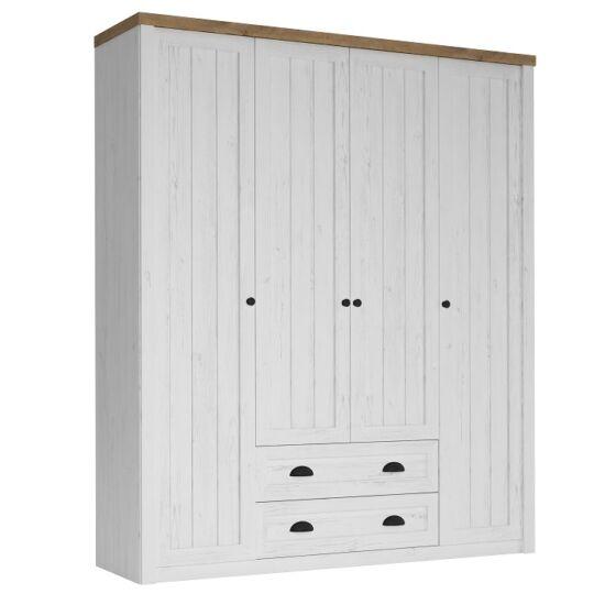 PROVANCE S4D szekrény ,  PROVANCE S4D szekrény  [fenyő Andersen / lefkas tölgyfa.]