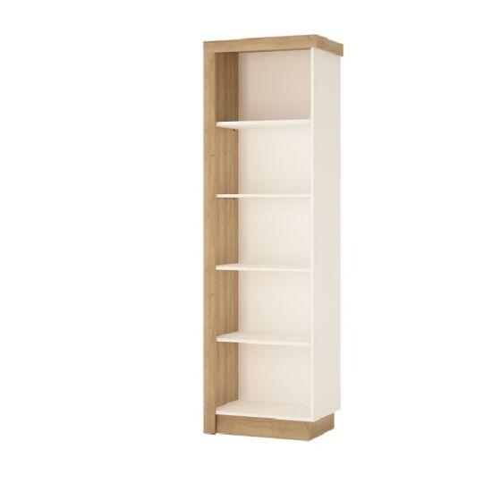 LEONARDO Könyvespolc LYOR01 - tölgy riviera/fehér,  jobbos