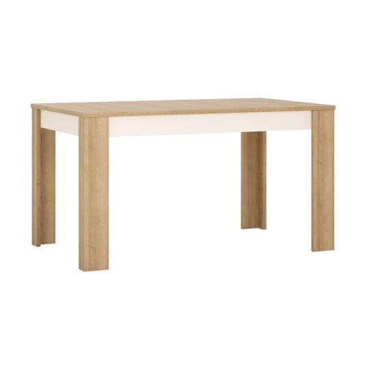 LEONARDO Étkezőasztal LYOT03 - nyitható,  tölgy riviera/fehér