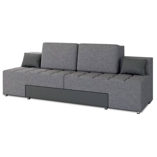 ATLANTICO Kinyitható kanapé,  szövet szürke/műbőr szürke