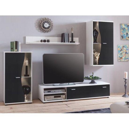 RUPOR Nappali bútor,  fehér/fekete [NEW]