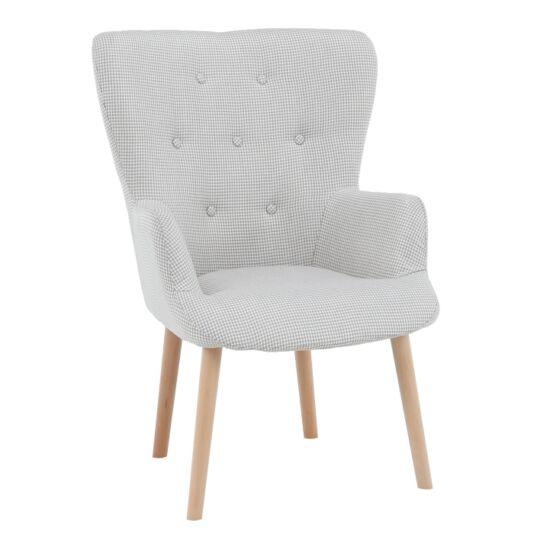 BRANDO Dizájnos fotel,  bézs szövet minta