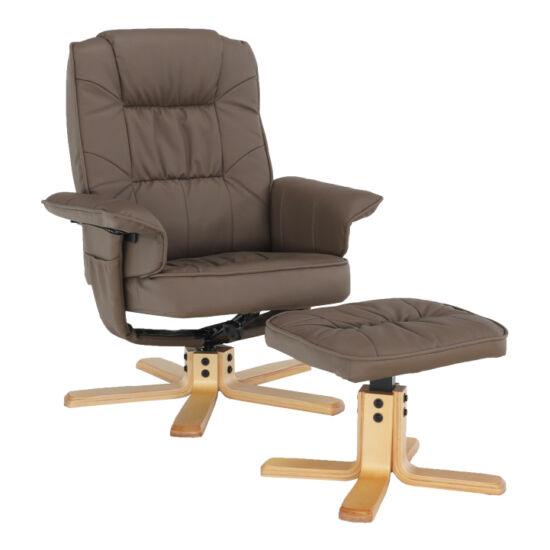 LERATO Pihenő fotel lábtámasszal,  cappucino